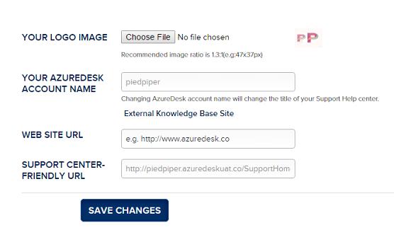 AzureDesk customer portal